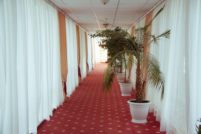 Un interior moderno hermoso del hotel foto de archivo libre de regalías