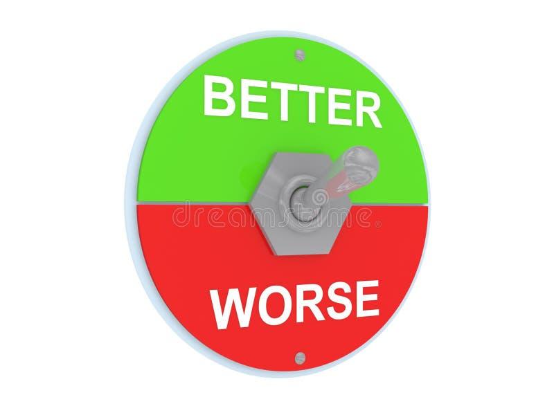 Un interruptor mejor o peor stock de ilustración