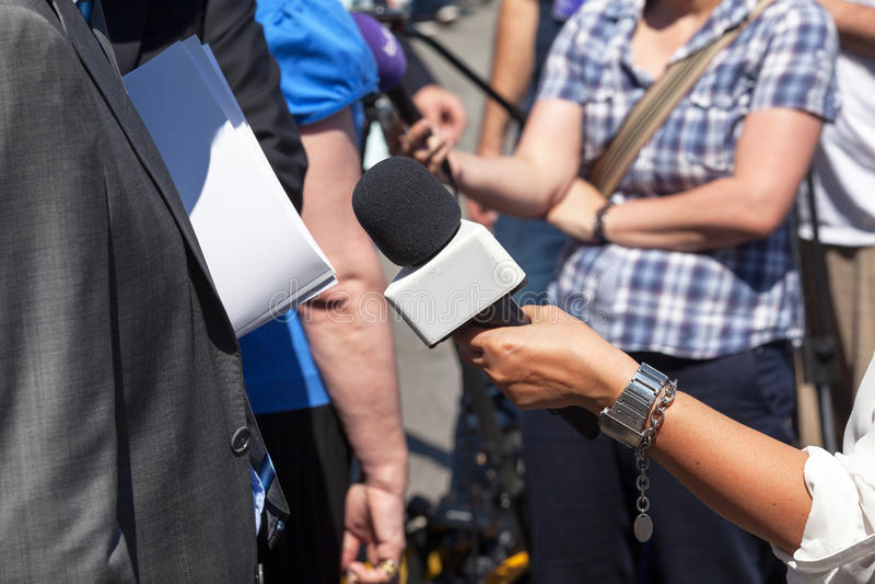 Un'intervista di vox populi immagine stock libera da diritti