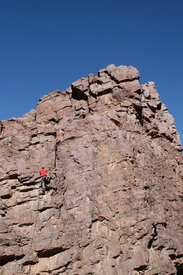 Un'intestazione dello scalatore per la parte superiore fotografia stock libera da diritti