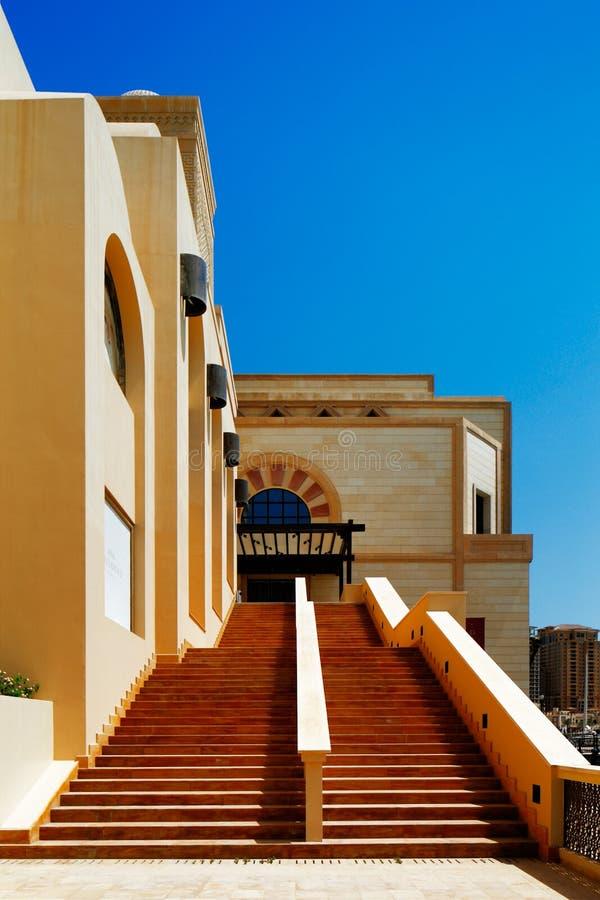 Un'isola artificiale Perla-Qatar in Doha, Qatar immagini stock