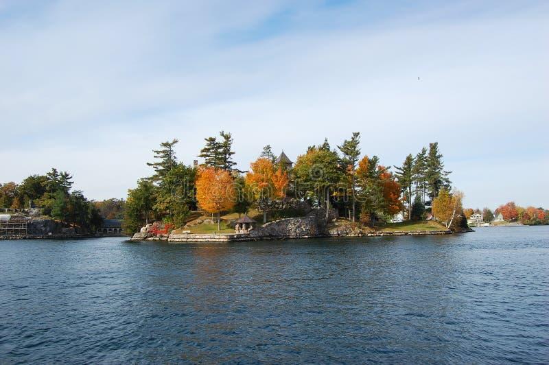 Un'isola in mille regioni delle isole, New York fotografie stock