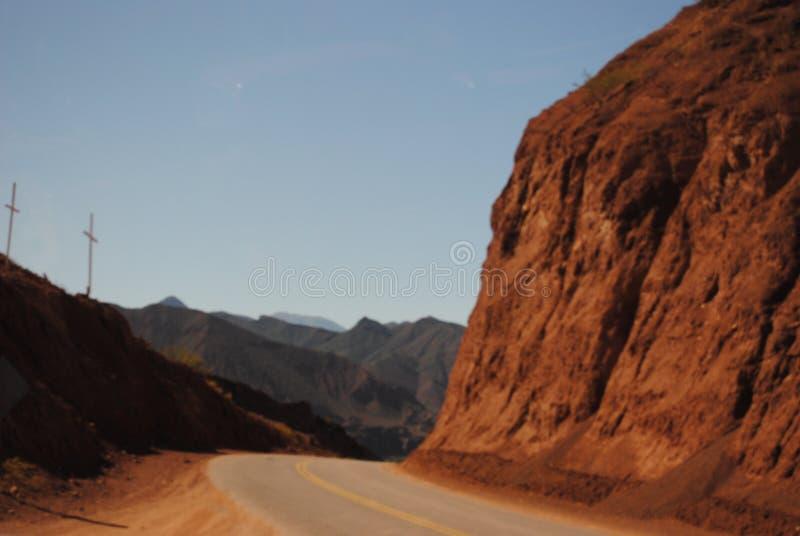 Un itinerario del Salta, Argentina immagini stock
