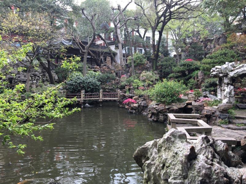 Un jardín en Shangai imagen de archivo libre de regalías