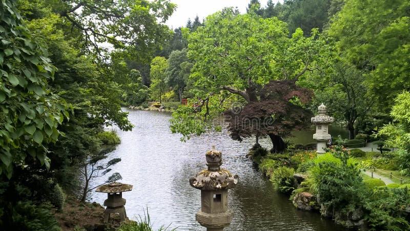 Un jardín japonés en Francia foto de archivo libre de regalías
