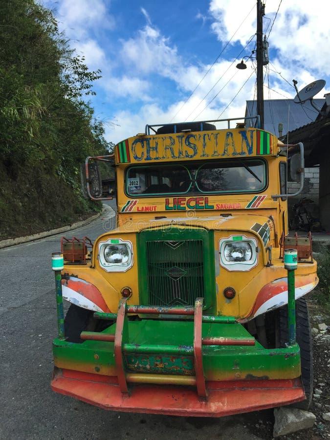 Un jeepney en Banaue, Filipinas fotografía de archivo