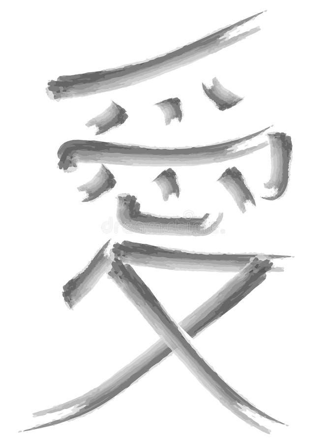 Un jeroglífico con el significado es amor ilustración del vector