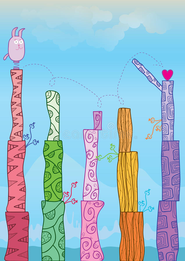 Un jeu d'amour plus de derrière Template_eps illustration de vecteur