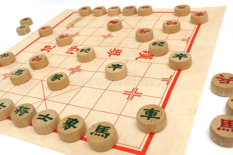 Un jeu des échecs chinois en cours photographie stock