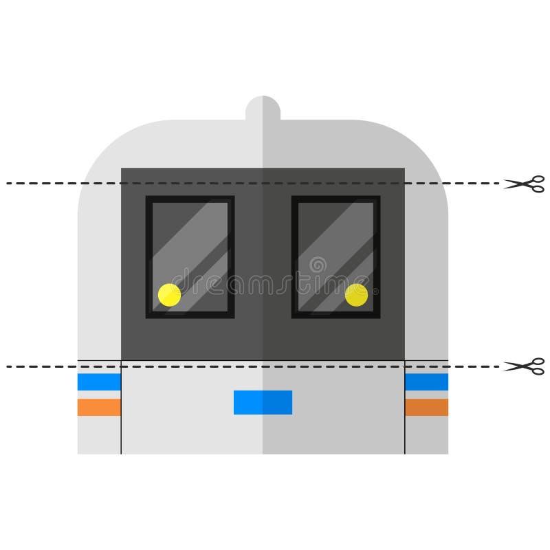 Un jeu pour des enfants d'âge préscolaire Coupez la photo en morceaux Pliez dans le bon ordre mosaïque transport changhaï illustration libre de droits
