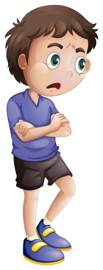 Un jeune homme fâché illustration stock