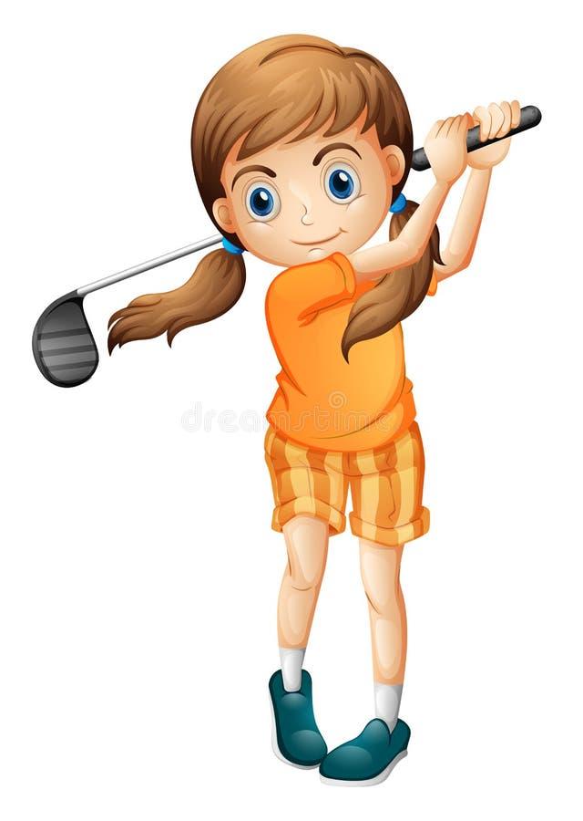 Un jeune joueur de golf illustration stock