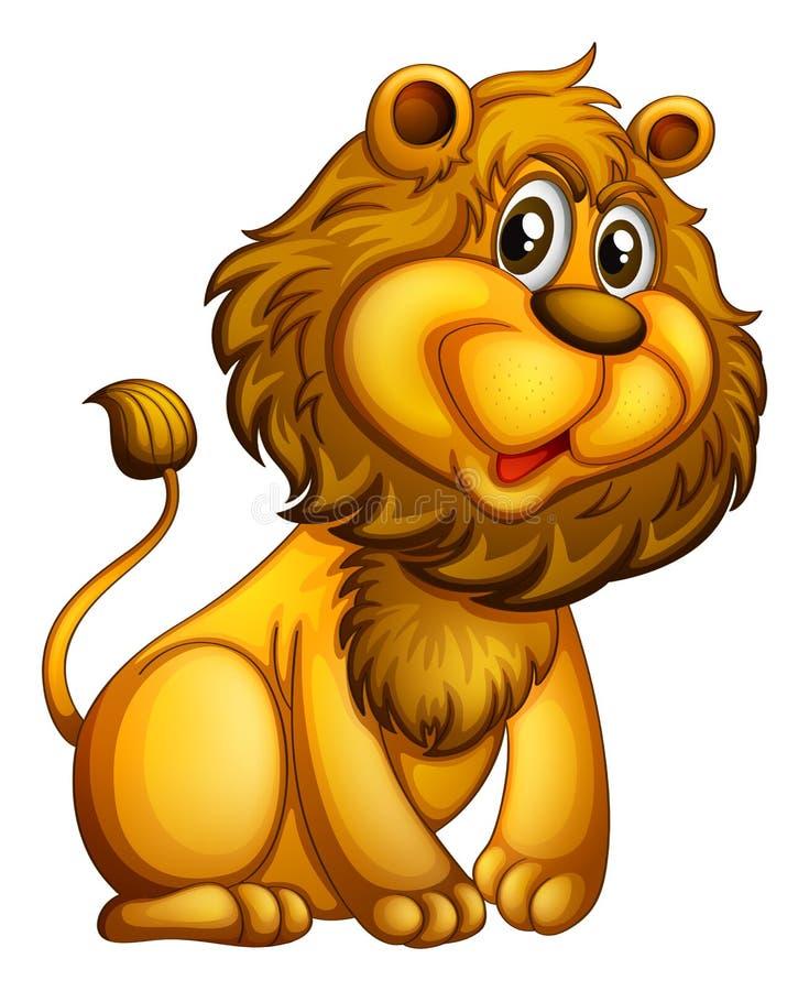 Un jeune lion illustration libre de droits