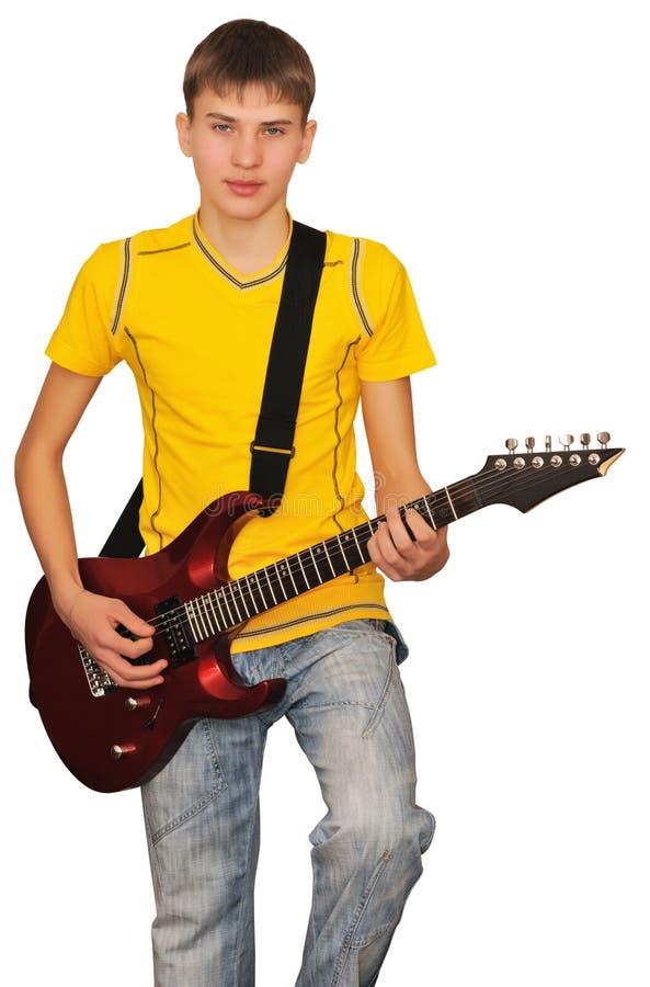 Un jeune musicien de roche image stock