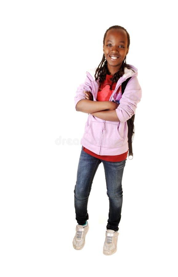 Jeune fille noire. image stock