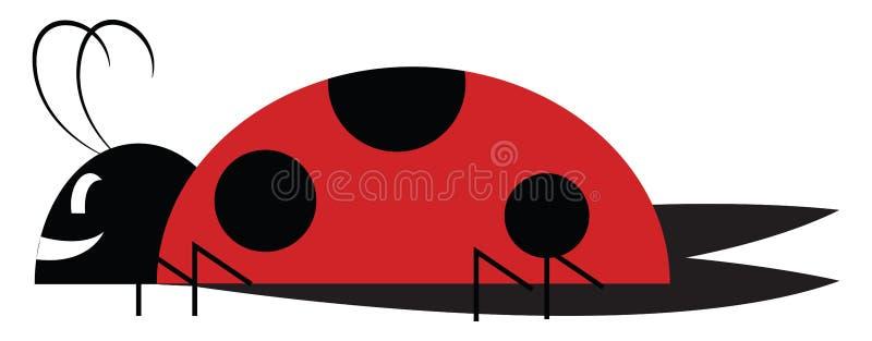 Un joli petit insecte ou une illustration de couleur illustration stock