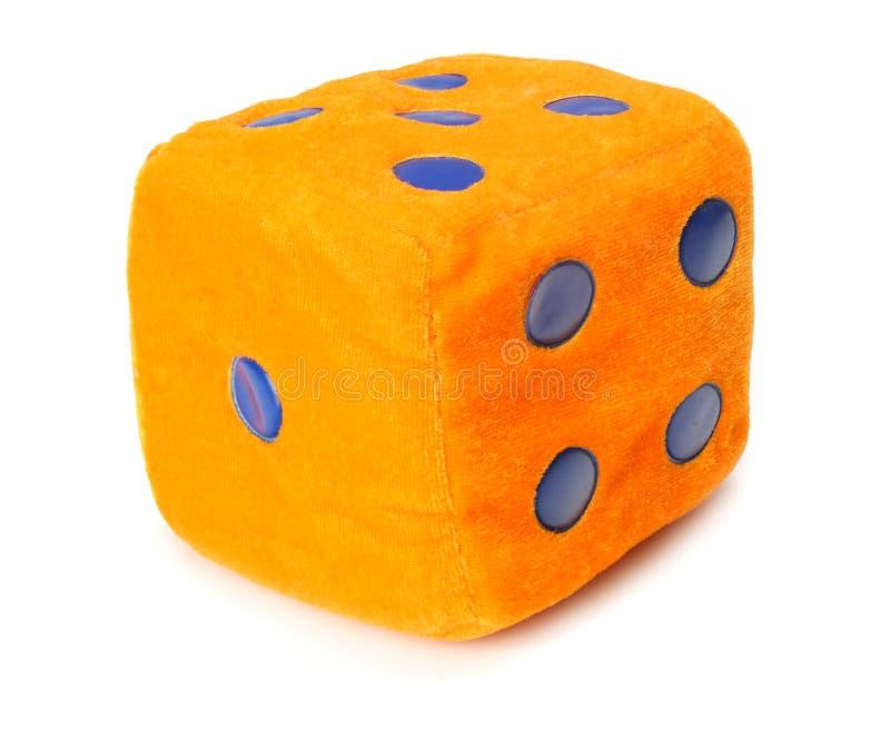un jouet orange de matrices d'isolement sur le fond blanc photos stock