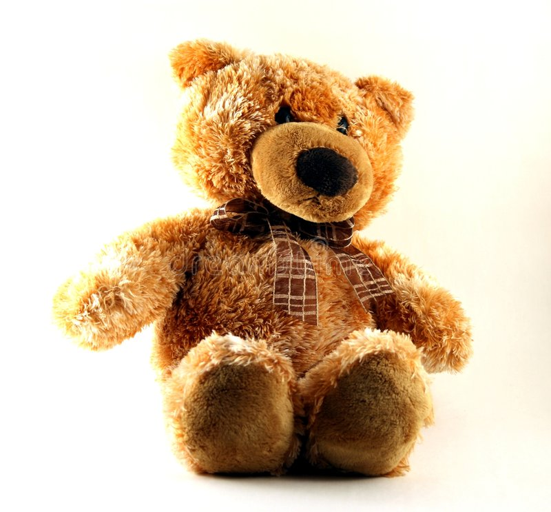 Un jouet - un ours mol   photo libre de droits