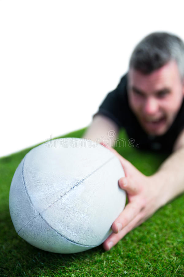 Download Un Joueur De Rugby Marquant Un Essai Photo stock - Image du : 56485052