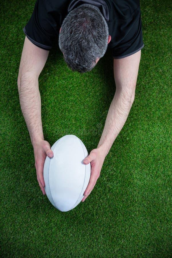 Download Un Joueur De Rugby Marquant Un Essai Photo stock - Image du : 56485054