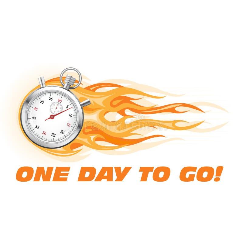 Un jour à aller, dernière occasion, dépêchent - l'icône de chronomètre illustration libre de droits