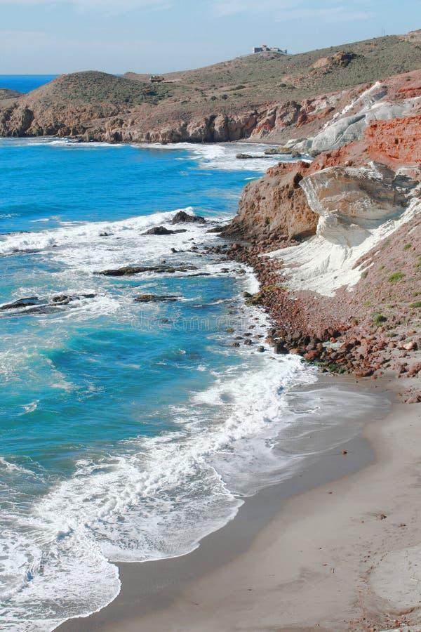 Un jour avec le soleil dans Cabo De Gata photo libre de droits