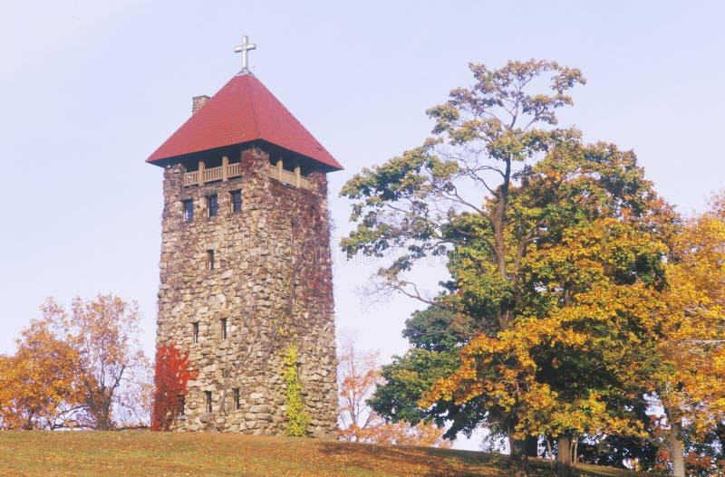 Un jour d'automne pour les au sol d'église de Walsh de villa dans le New Jersey de Morristown photo stock