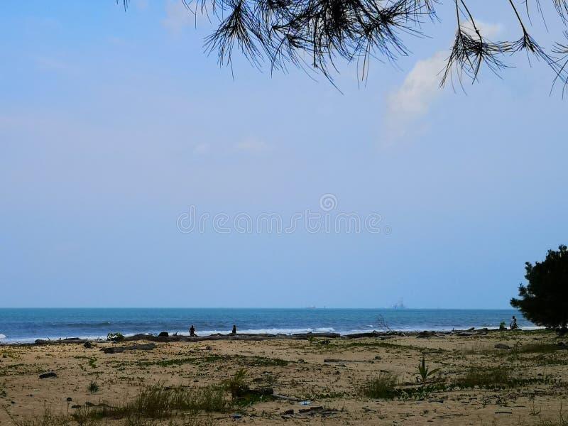 Un jour dans la plage image libre de droits