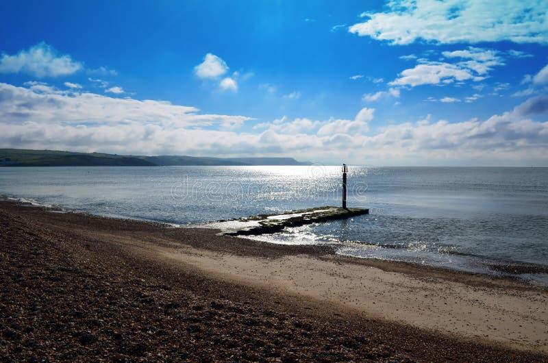 Un jour nuageux dans Dorset photo stock