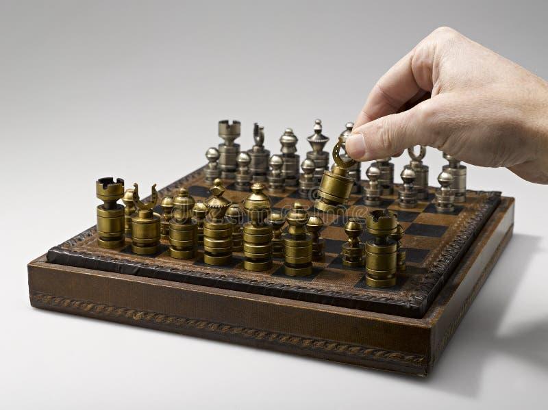 Un jugador de ajedrez fotografía de archivo