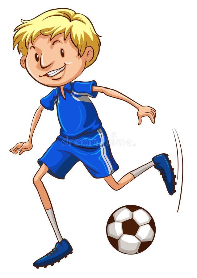 Un jugador de fútbol libre illustration