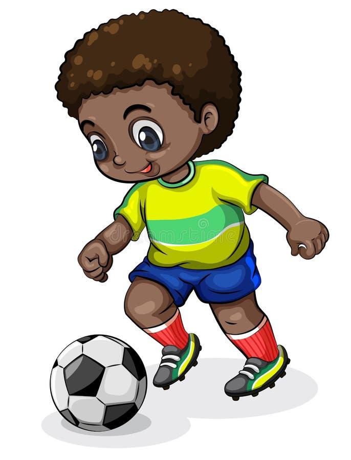 Un jugador de fútbol negro libre illustration