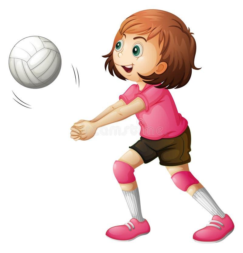 Un jugador de voleibol joven libre illustration