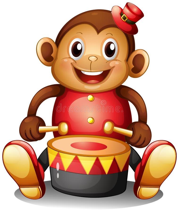 Un juguete musical del mono stock de ilustración