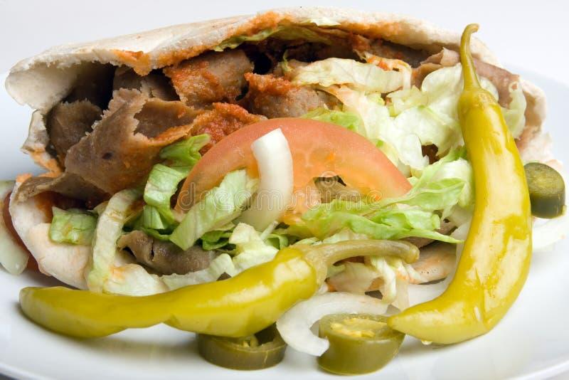 Un kebab del donner fotografie stock