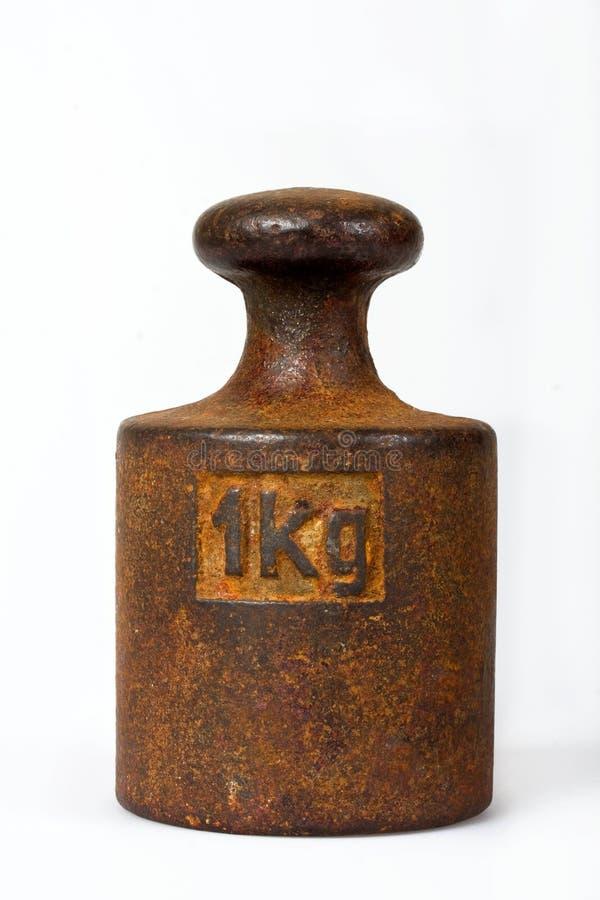 Un kilogramme de poids photo stock