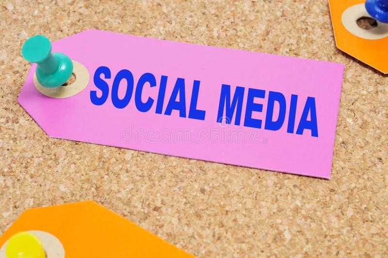 Médias sociaux photo libre de droits