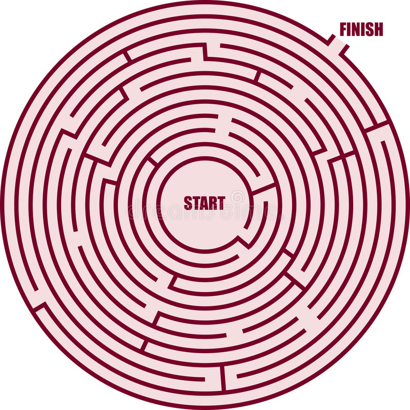 Un labirinto del cerchio illustrazione vettoriale