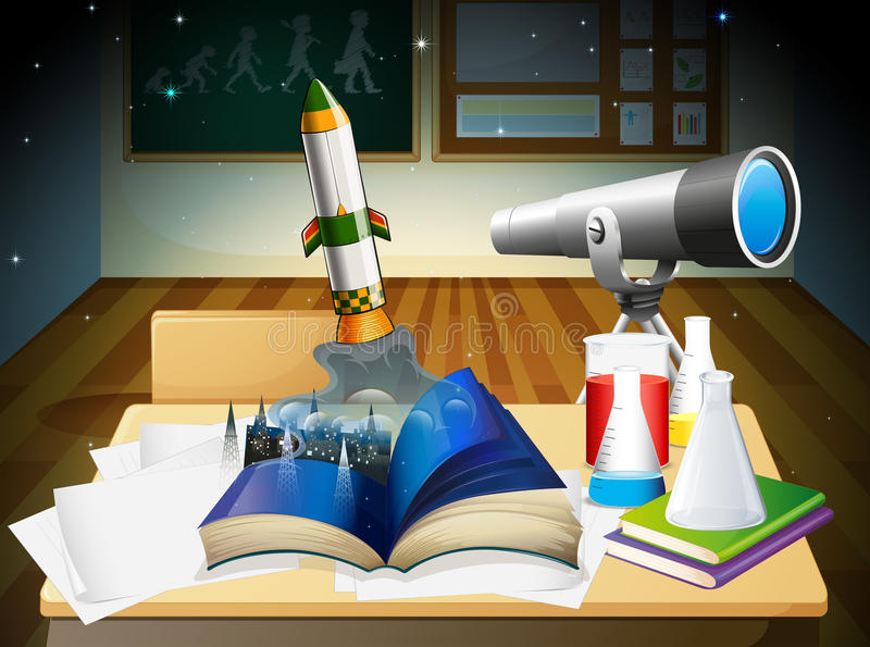 Un laboratoire de science illustration libre de droits