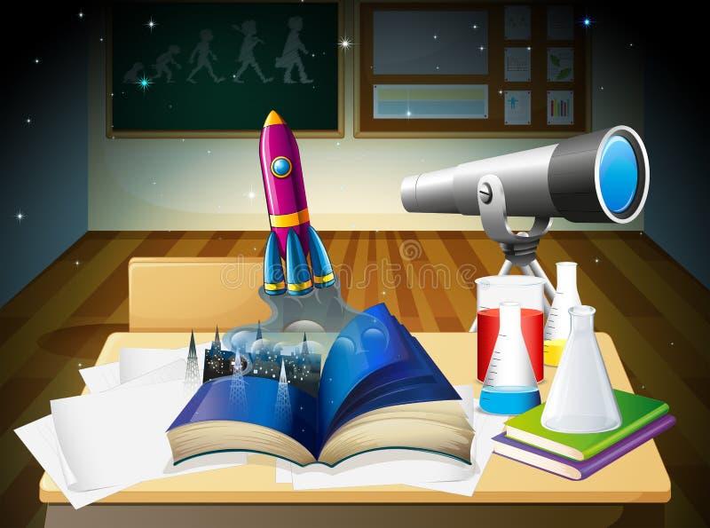 Un laboratoire de science illustration stock