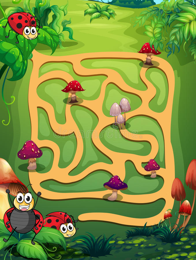 Un labyrinthe illustration de vecteur