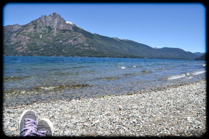 Un lac de paix photo stock