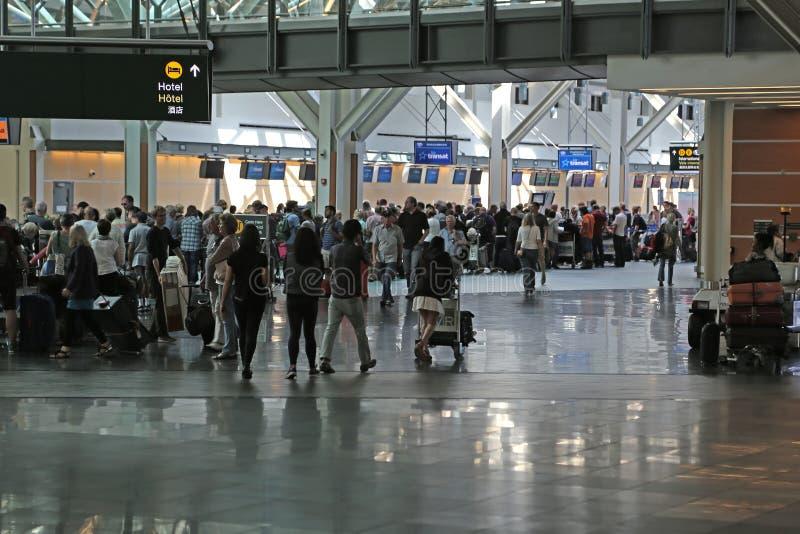 Un lado del aeropuerto internacional de Vancouver foto de archivo