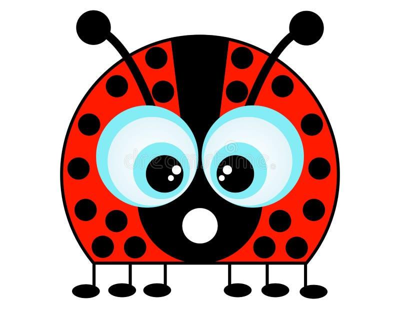 Un Ladybug del fumetto royalty illustrazione gratis