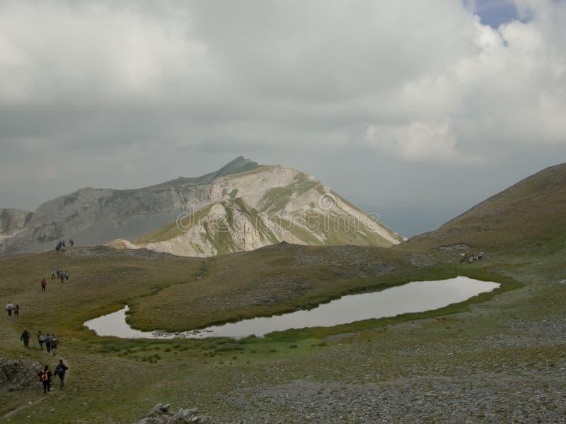 Un lago glacial imagenes de archivo