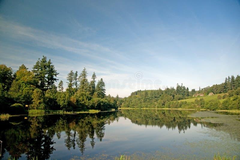 Un lago in Northumberland immagini stock libere da diritti