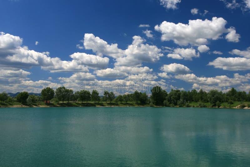 Un lago pacifico fotografia stock libera da diritti