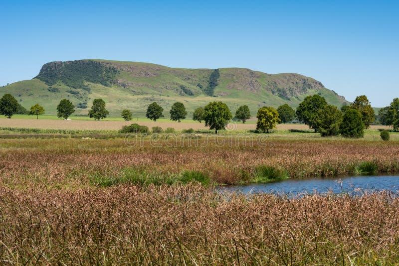 Un lago popolare di bird-watching in Natal Midlands fotografia stock libera da diritti