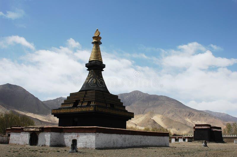Un lamasery tibetano fotografía de archivo libre de regalías