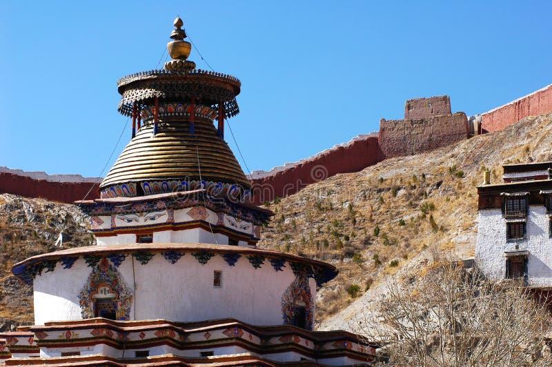 Un lamasery tibetano fotografia stock